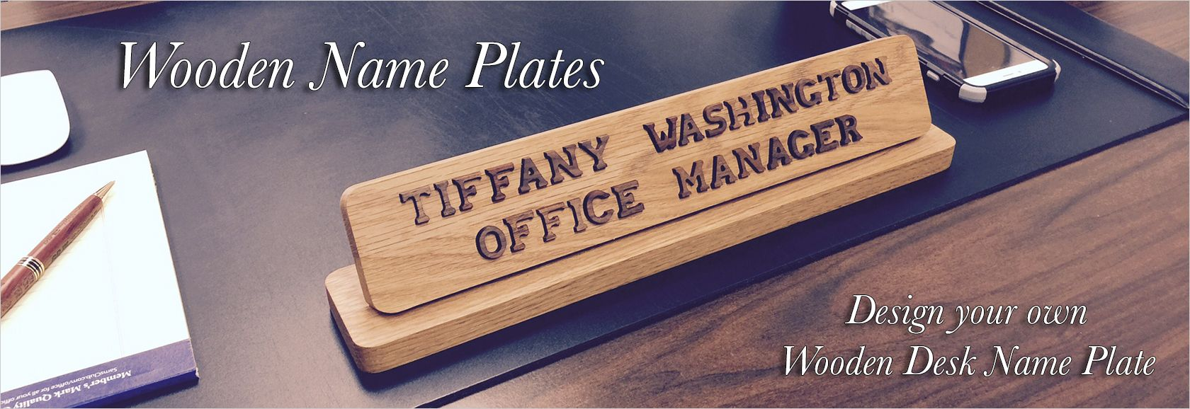 New Name plates to make any office unique. Desk, door or wall name plates. JV71
