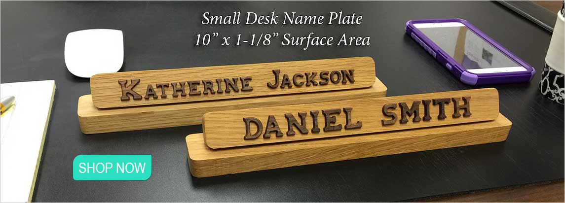 Unique Name plates to make any office unique. Desk, door or wall name plates. TD92